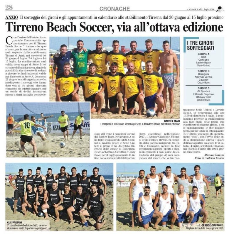 Tirreno beach soccer via all'ottava edizione
